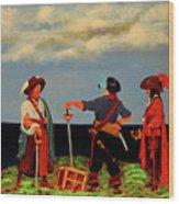 Three Pirates Wood Print