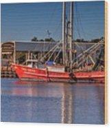 Three Princess Schrimpboat Wood Print
