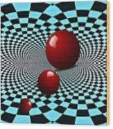 Three Red Balls Wood Print