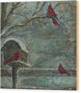 Three Reds Wood Print