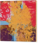 Three Rivers In The Sahara Wood Print