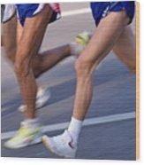 Three Runners Wood Print by Sami Sarkis