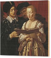 Three Singers Wood Print