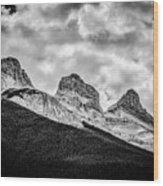 Three Sisters Alberta Wood Print