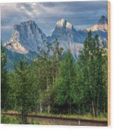 Three Sisters And The Railroad Wood Print