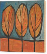 Three Sisters Fall Wood Print