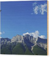Three Sisters Ridges Canmore Alberta Gateway To Banff National Park Wood Print
