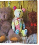 Three Special Bears Wood Print