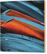 Three Sport Car Hoods Abstract Wood Print