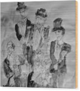 Three Tenors And A Pianist Wood Print