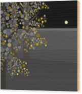 Three Trees In The Moonlight Wood Print