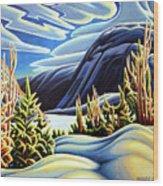 Three Valley Gap Wood Print