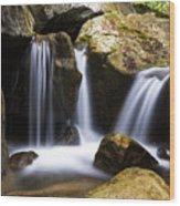 Three Waterfalls Wood Print