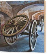 Three Wheeled Wagon Wood Print