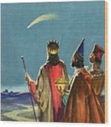 Three Wise Men Wood Print by English School