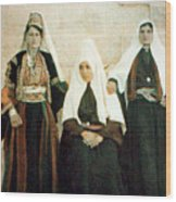 Three Women Wood Print