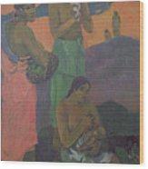 Three Women On The Seashore Wood Print by Paul Gauguin