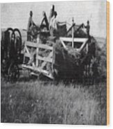 Threshing Day Wood Print