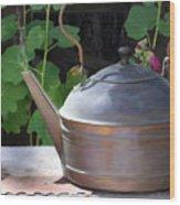 Thrift Store Teapot Wood Print