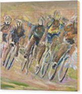 Thrill Of The Chase Wood Print