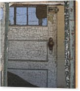 Through A Broken Window Wood Print