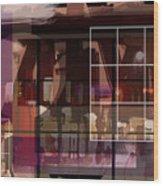Through A Window Wood Print