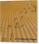 Through Desert Wood Print