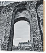 Through The Arch In A Sicily Ruin Wood Print