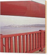 Through The Bridge View Of San Francisco Wood Print