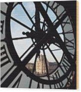 Through The Clock Wood Print