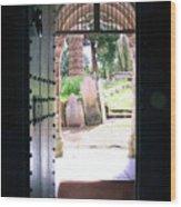 Through The Door Of St Mylor Wood Print