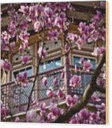 Through The Flowers Wood Print