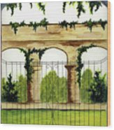 Through The Gates Wood Print