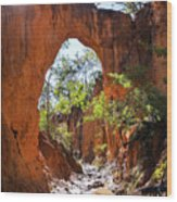 Through The Golden Arch Wood Print