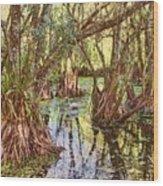 Through The Mangroves Wood Print