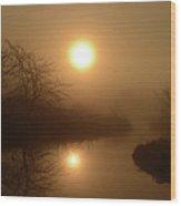 Through The Murky Mist Wood Print