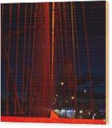 Through The Red Veil Wood Print