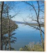 Through To The Susquehanna Wood Print