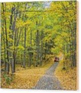 Through Yellow Woods 2 Wood Print