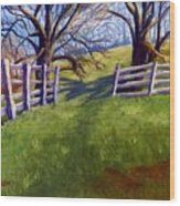 Throught The Pasture Gate Wood Print