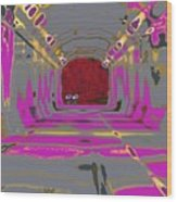Thru The Tunnel Wood Print