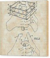 Thumb Wrestling Game Patent 1991 - Vintage Wood Print