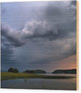 Thunder At Siuro Wood Print