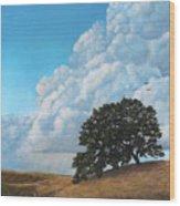 Thunder Clouds Mt. Diablo Wood Print