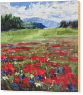 Thunder Clouds Over Bavarian Meadow Wood Print