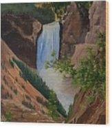 Thunder Falls Wood Print