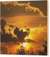 Thunder Mets Sunset Wood Print
