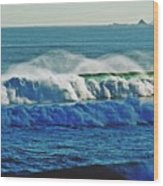 Thunder Of The Waves Wood Print