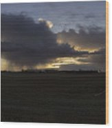 Thunder On The Prairie Wood Print