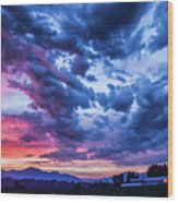Thunder Storm Wood Print